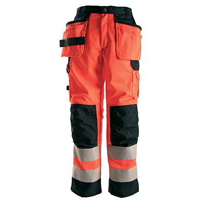 BYXA 258 HIVIS KL2,ORANGE/SVAR