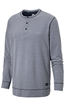 HENLEY SHIRT STEEL BLUE MELANG