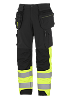 THS TOOL POCKET TROUSERS, STRETCH, CL 1 BK/YL