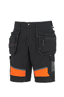 Shorts synbarhet stretchpanel, hantverk Svart/Orange