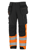 THS TOOL POCKET TROUSERS, STRETCH, CL 1 BK/OG